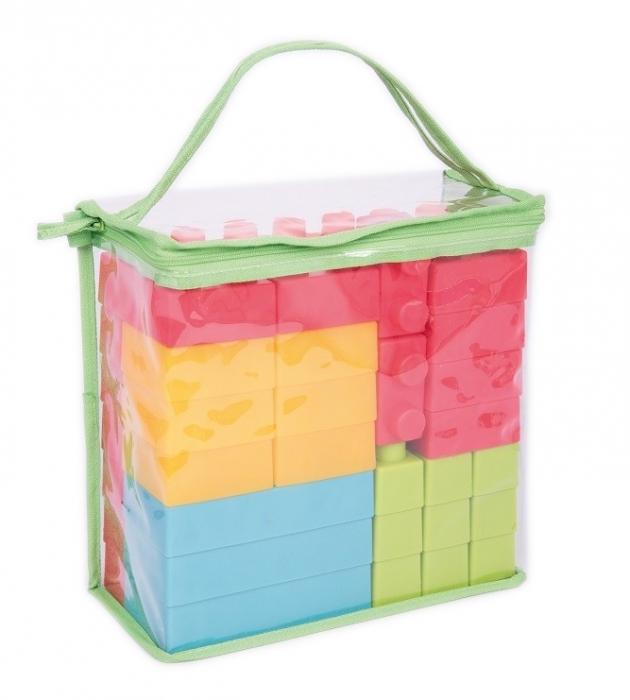 Cuburi de plastic moale, TickiT, set de 45 cuburi, multicolor 2
