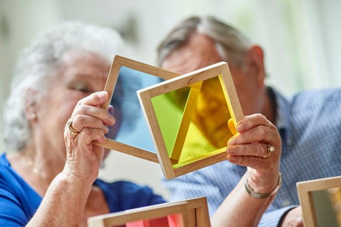 Set de 7 pătrate senzoriale de diferite culori [5]