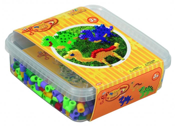 DINOSAURI - 600 margele HAMA MAXI in cutie de cadou 0