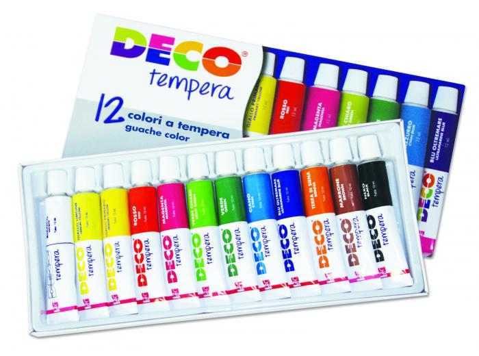Tempera DECO în 12 culori asortate 1