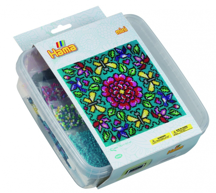 FLORI - 10500 margele HAMA MINI in cutie de plastic 0