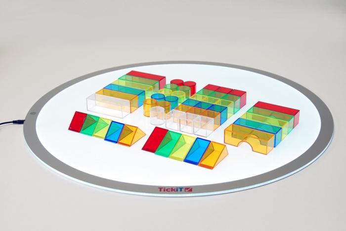 Set de 50 buc cuburi de construcții COLORATE transparente din plastic 4