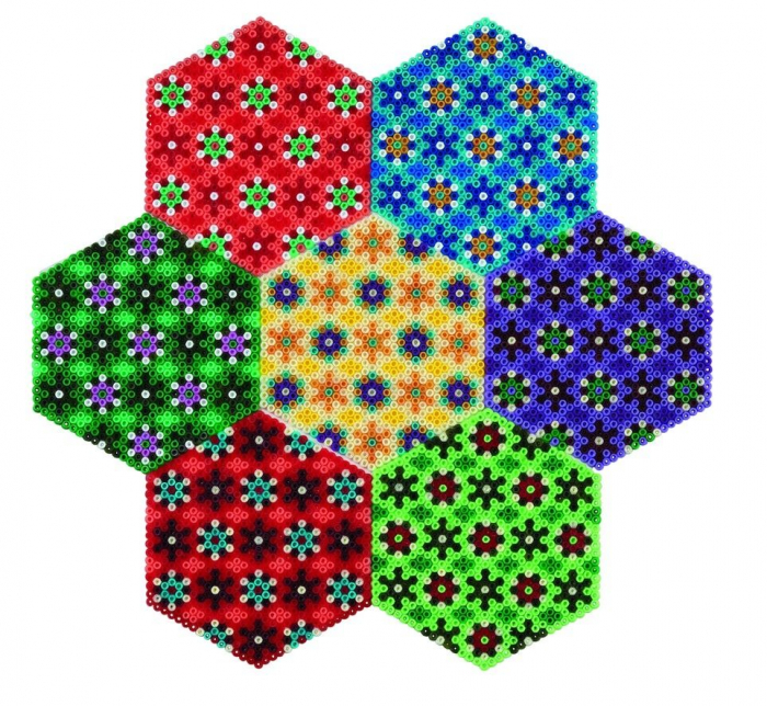 HEXAGON - 10500 margele HAMA MINI in cutie de plastic 2