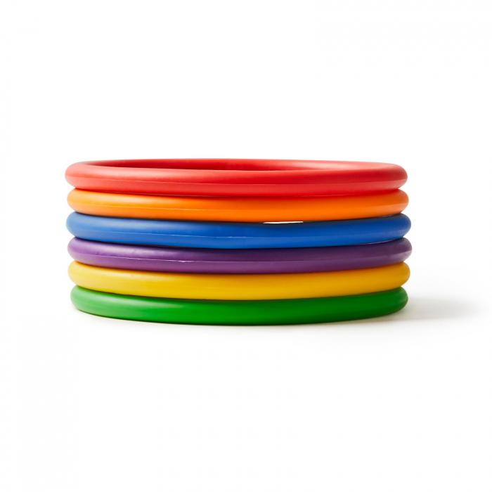 Inele de activități set de 24 buc/6 culori 1