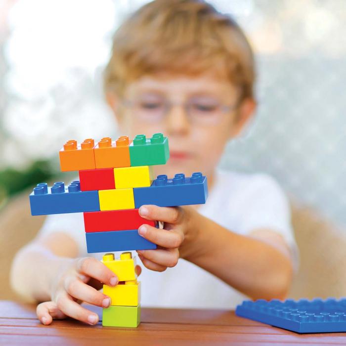 Joc de construcții cuburi atașabile midi 1