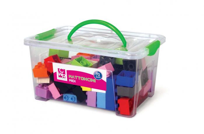 Joc de construcții cuburi atașabile midi 0