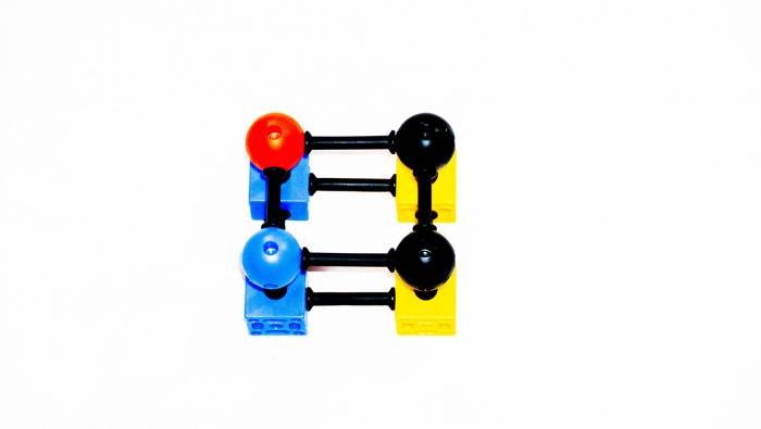 Joc de construcții 3-D Connect, Vinco, set de 140 piese, multicolor 6