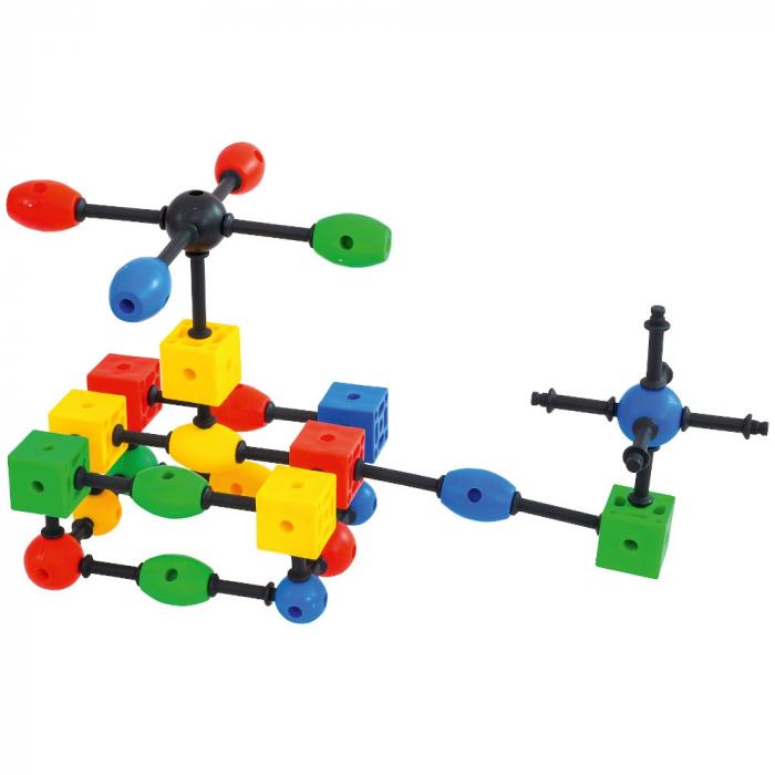 Joc de construcții 3-D Connect, Vinco, set de 140 piese, multicolor 3