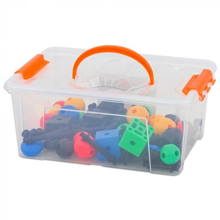 Joc de construcții 3-D Connect, Vinco, set de 140 piese, multicolor 0