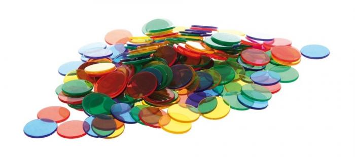 Joc sortare buline transparente, Edx Education, set de 500 bucăți, multicolor 0