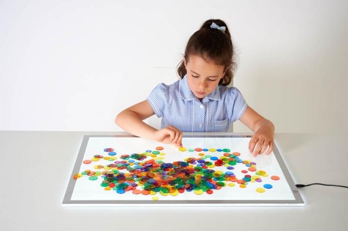 Joc sortare buline transparente, Edx Education, set de 500 bucăți, multicolor 2