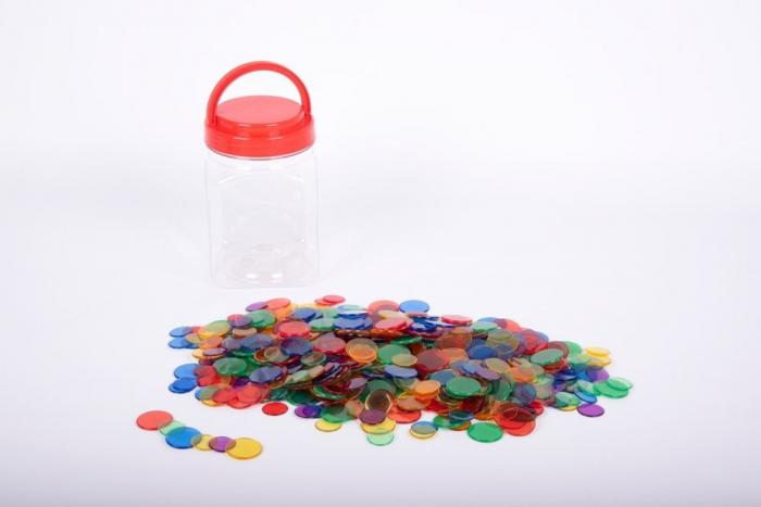 Joc sortare buline transparente, Edx Education, set de 500 bucăți, multicolor 1