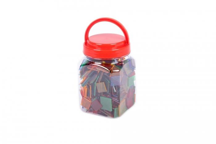 Joc sortare pătrate transparente, Edx Education, set de 300 bucăți 3
