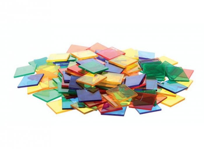 Joc sortare pătrate transparente, Edx Education, set de 300 bucăți 0