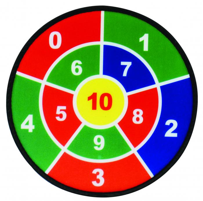 Joc tinta, set 3 ținte matematice cu 9 mingi 0