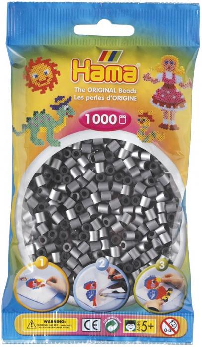 Mărgele de călcat HAMA MIDI argintii 1000 bucăți 0