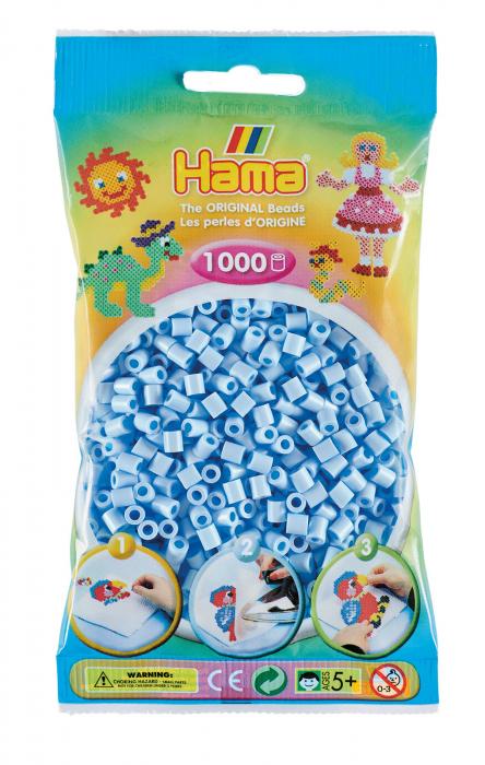 Mărgele de călcat HAMA MIDI Albastru gheață Pastel 1000 buc în punguliță 0