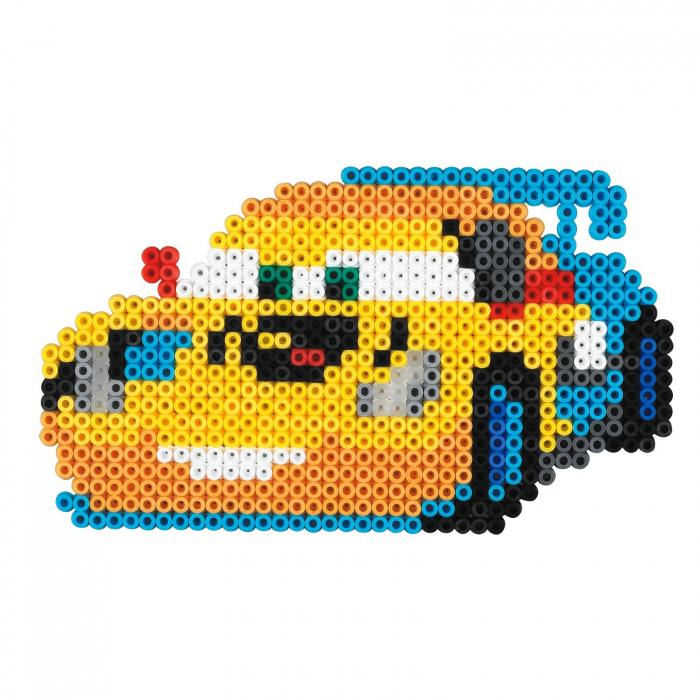 Mașinuțe Disney Fulger McQueen, set cu 4000 mărgele Hama în cutie 2