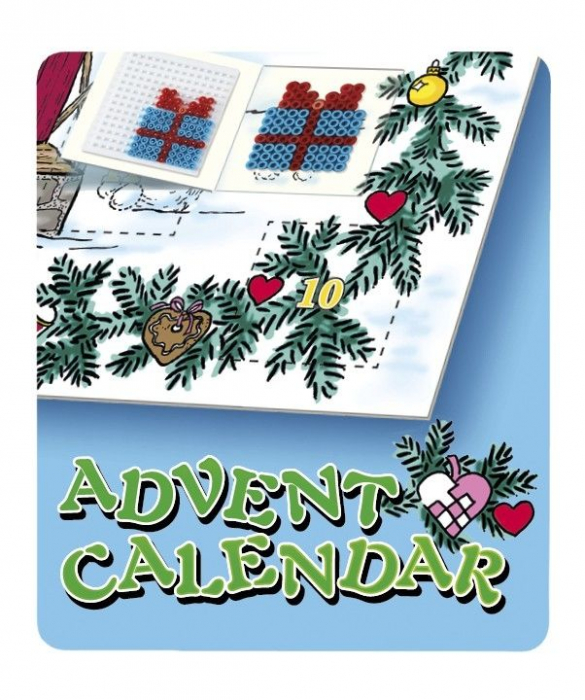 Margele de calcat HAMA MIDI Calendar Advent 5000 in cutie + 5 plansete de lucru mic 3
