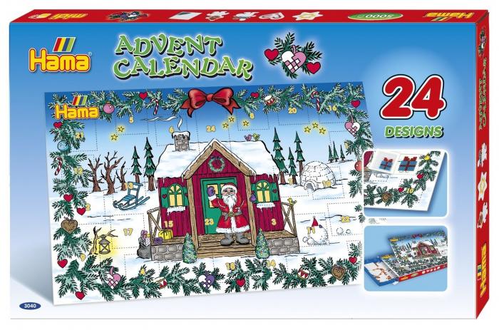 Margele de calcat HAMA MIDI Calendar Advent 5000 in cutie + 5 plansete de lucru mic 2