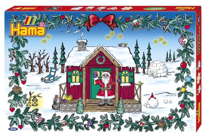 Margele de calcat HAMA MIDI Calendar Advent 5000 in cutie + 5 plansete de lucru mic 1