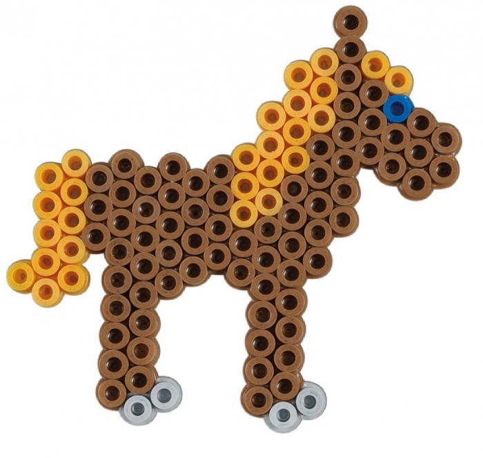 Margele de calcat HAMA MIDI Animale de fermă - 2000 margele + 1 plansete de lucru impachetat in cutie 2