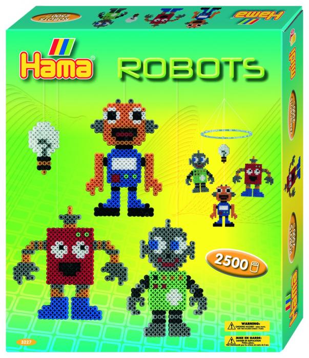 Mărgele de călcat HAMA Midi Roboți 0