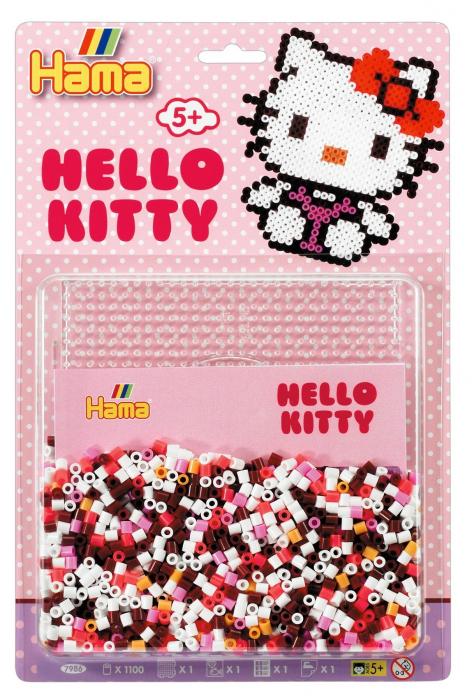Margele de calcat HAMA MIDI Hello Kitty 1100 infoliat 0