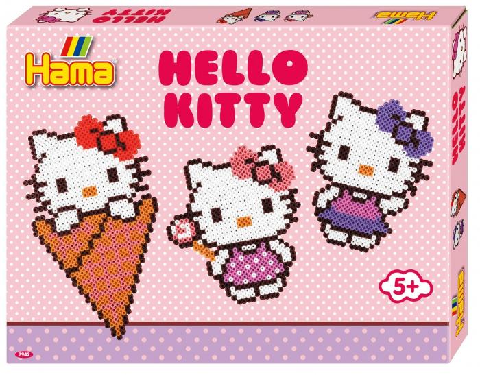 Mărgele de călcat HAMA MIDI Hellor Kitty 4000 în cutie 0