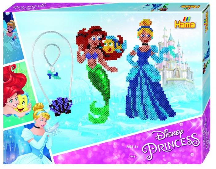 Mărgele de călcat HAMA MIDI Prințesele Disney 4000 în cutie 0