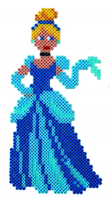 Mărgele de călcat HAMA MIDI Prințesele Disney 4000 în cutie 1