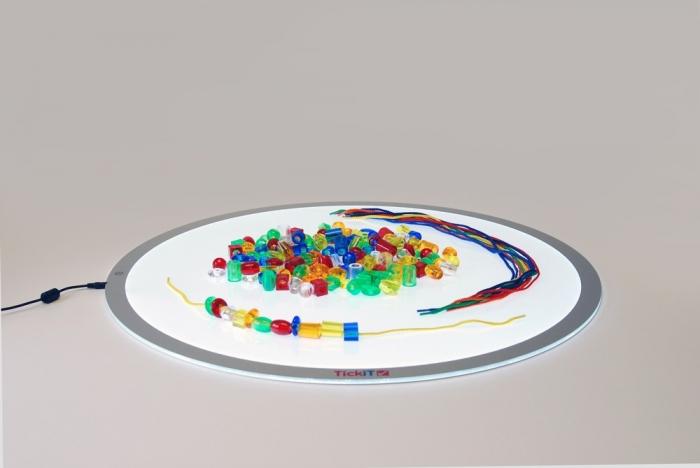 Mărgele transparente mari de înșirat, 192 bucăți, multicolor 5