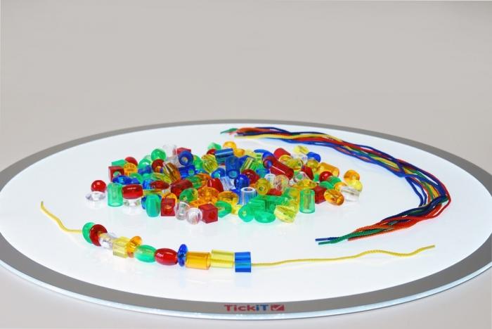 Mărgele transparente mari de înșirat, 192 bucăți, multicolor 6