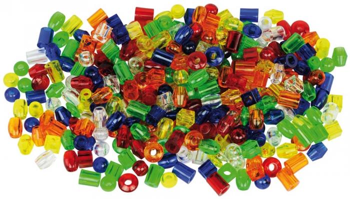 Mărgele transparente mari de înșirat, 192 bucăți, multicolor 0