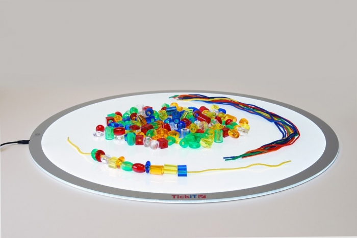 Mărgele transparente mari de înșirat, 192 bucăți, multicolor 7
