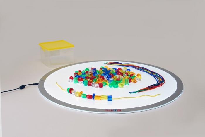 Mărgele transparente mari de înșirat, 192 bucăți, multicolor 3