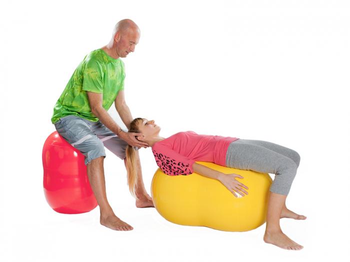 Minge alună fizioterapeutică Physio roșie-85 5