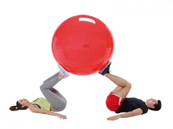 Minge fizioterapeutică Gymnic Fizio 120-roșu [4]