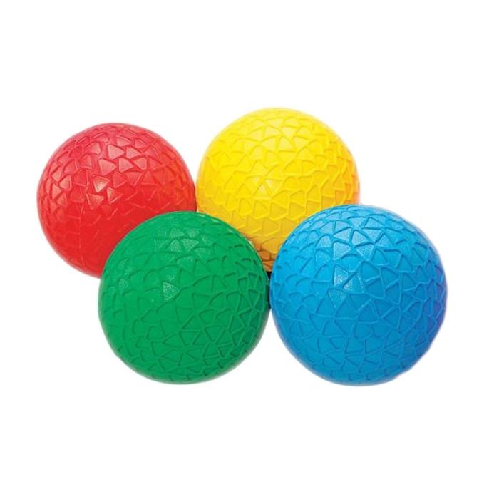 Mingi colorate senzoriale cu texturi, TickiT, set de 4 mingi, multicolor 0
