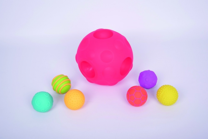 Mingi senzoriale Meteoriți, TickiT, set de 7 mingi, multicolor [1]