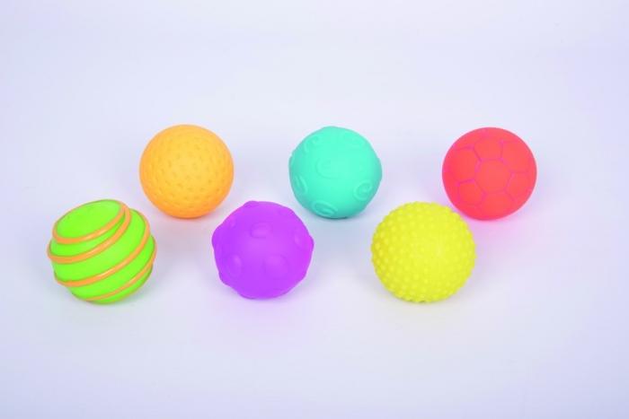 Mingi senzoriale texturate, TickiT, set de 6 mingi, multicolor 1