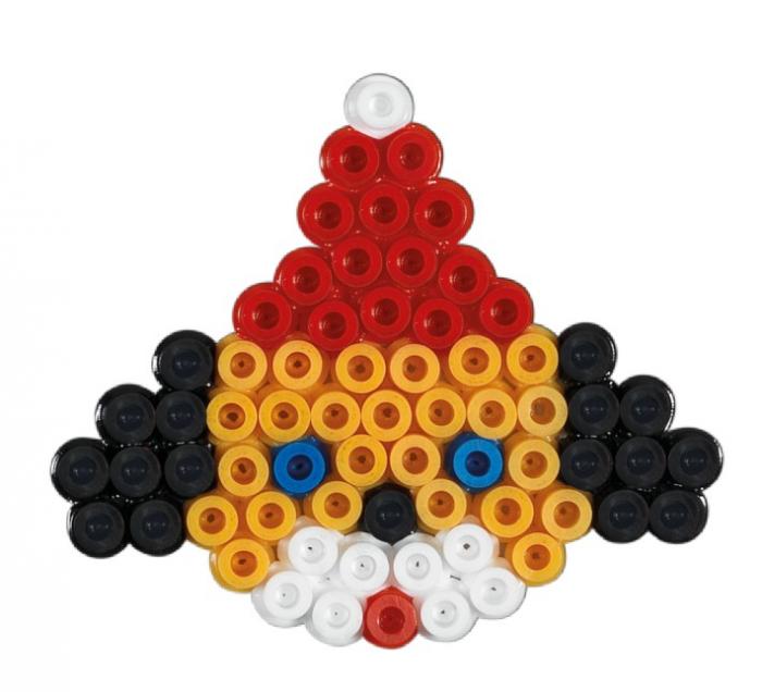 Bradul de Crăciuni - Mărgele de călcat Hama Midi înfoliat (în bășică) 450 de mărgele și 1 planșetă 1