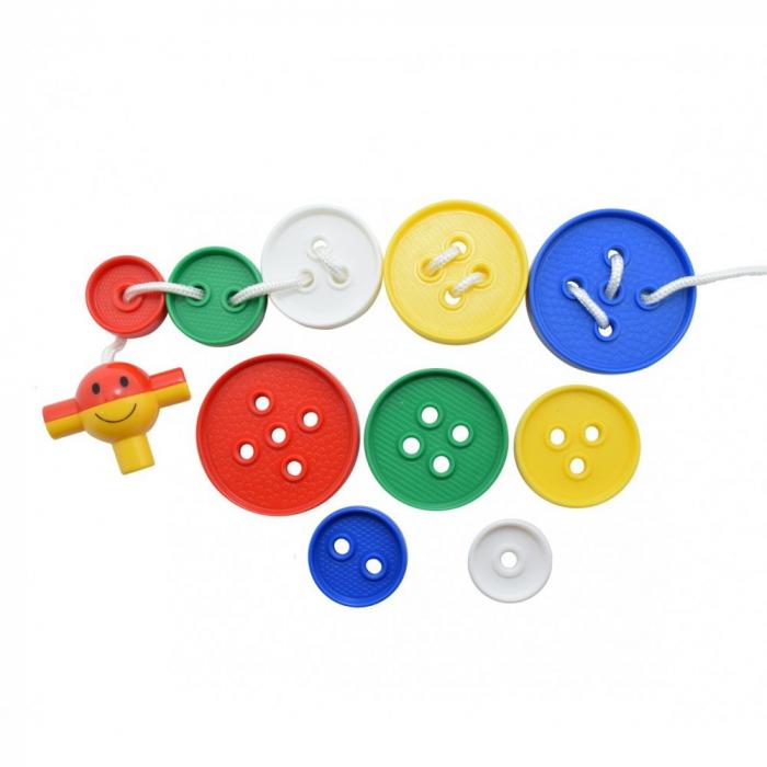 Nasturi de insirat plastic Gigant, Commotion, set de 44 bucati, multicolor 1
