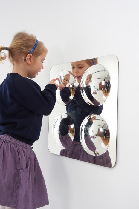 Oglindă acrilică mare cu 4 cupole [3]