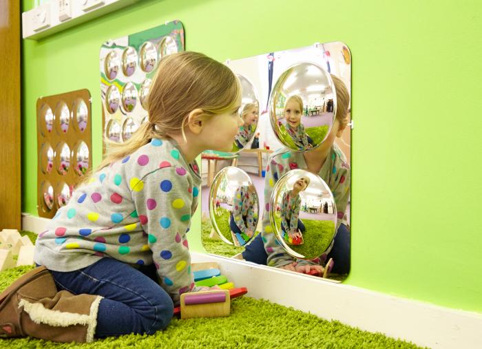 Oglindă acrilică mare cu 4 cupole [1]