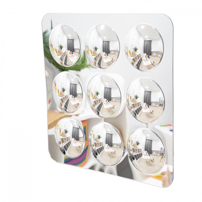 Oglindă acrilică mare cu 9 cupole [0]