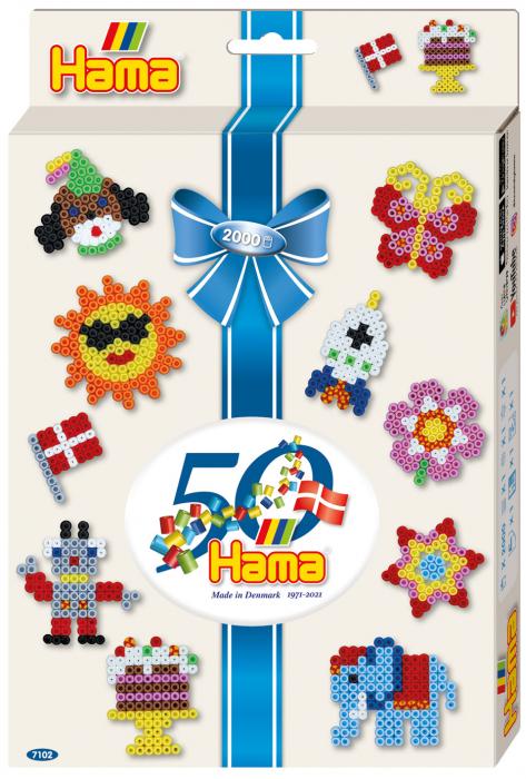 Pachet aniversar - 2000 mărgele Hama în cutie cu agățător [0]