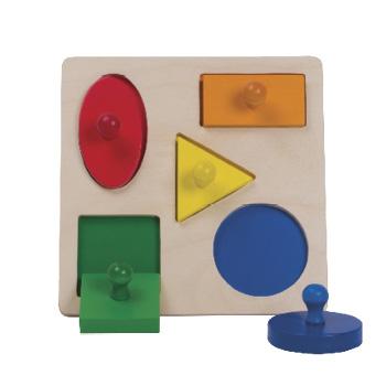 Puzzle Forme Geometrice cu  mâner mare 0