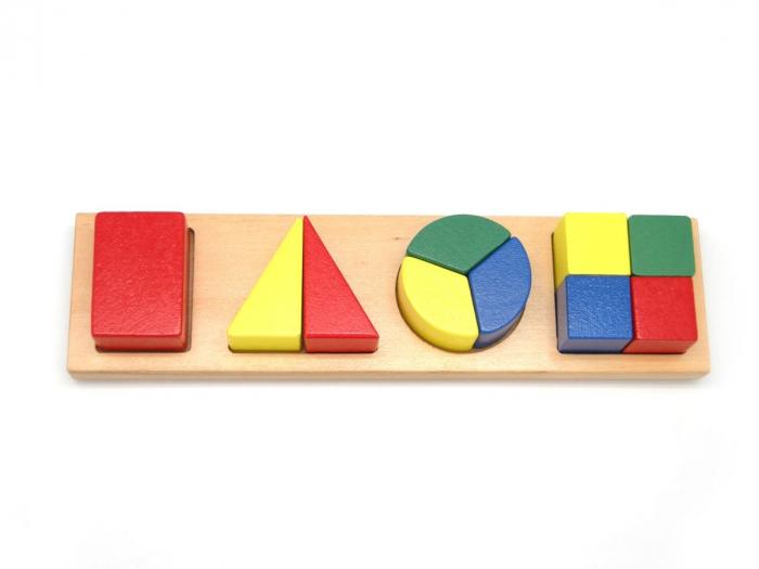 Puzzle geometric Fractii din lemn 0