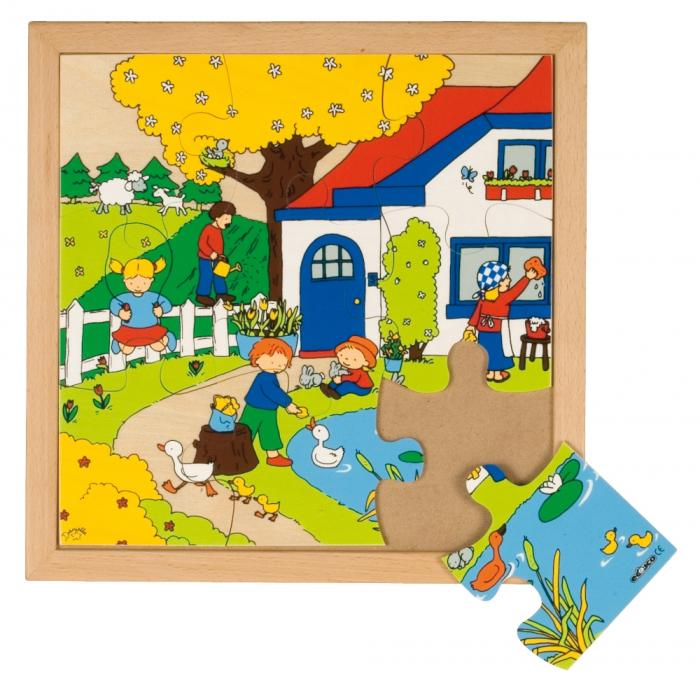 Puzzle lemn primăvara, Educo 0